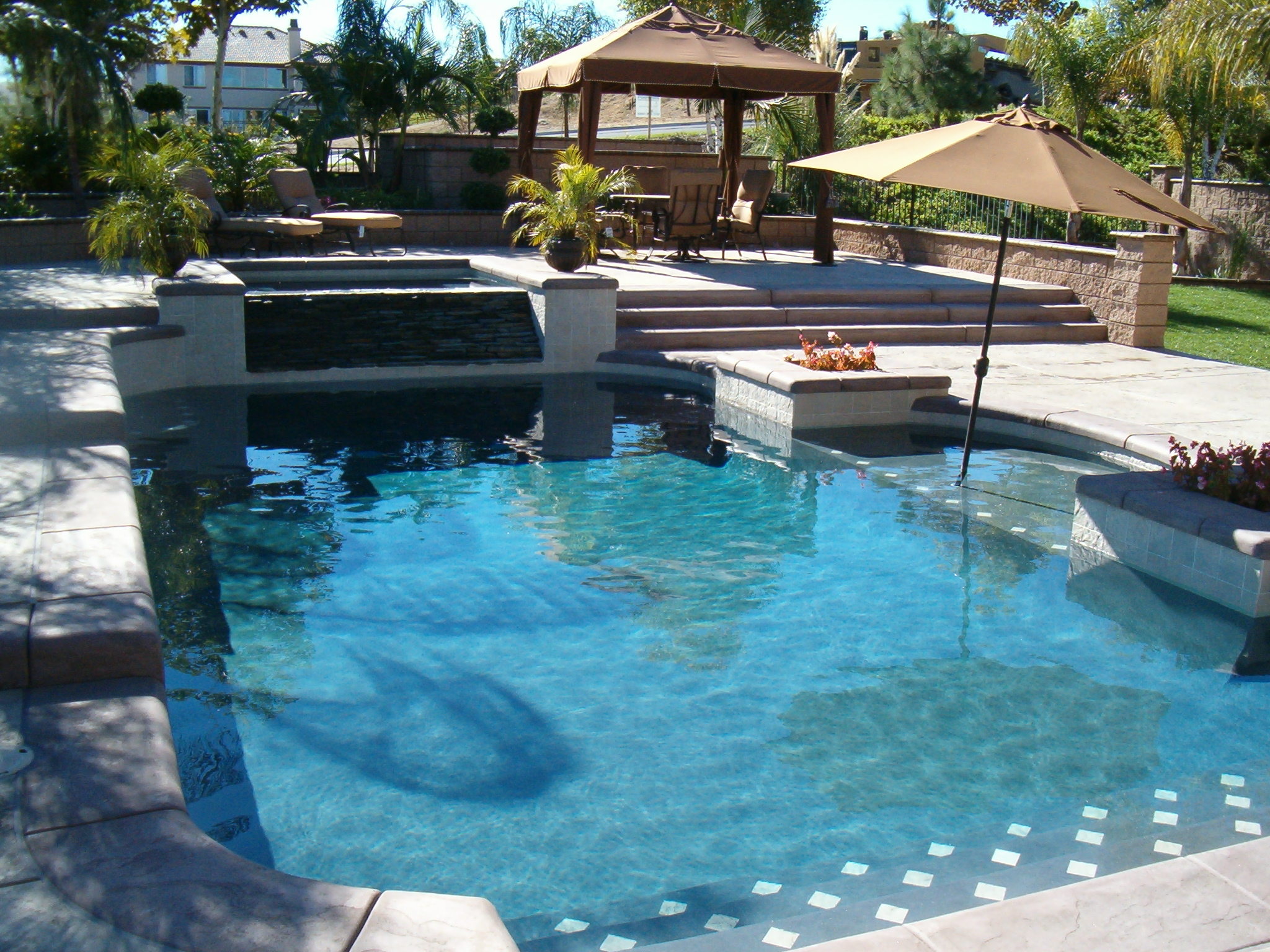 Classic Swimming Pool Design with Reef Step