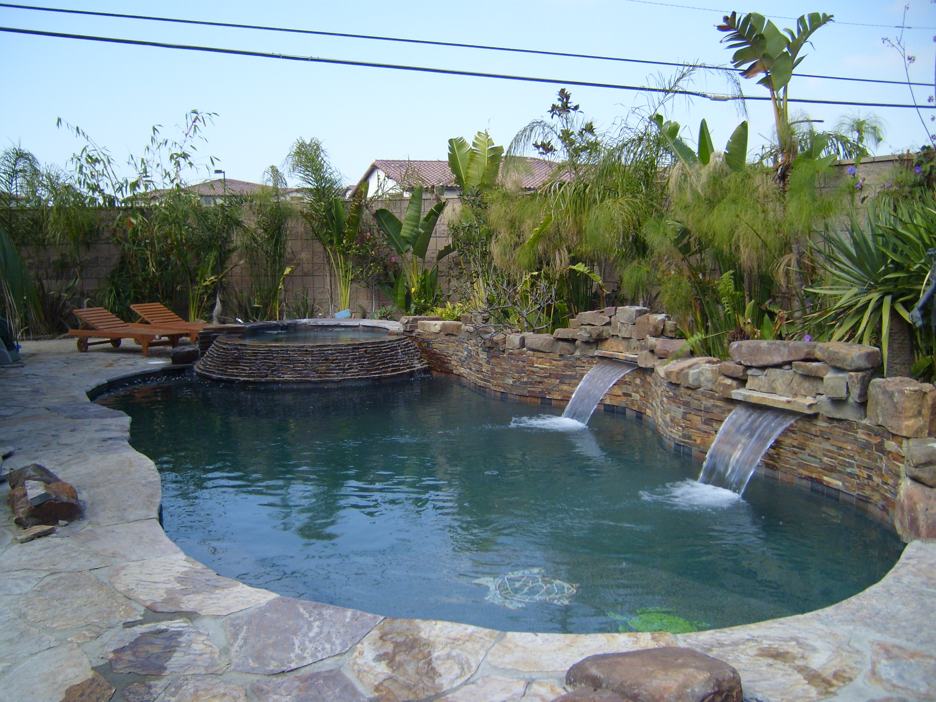 Swimming Pool and Waterfall Video